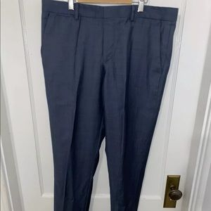 Express Photographer 32x30 Suit Pants Light Blue
